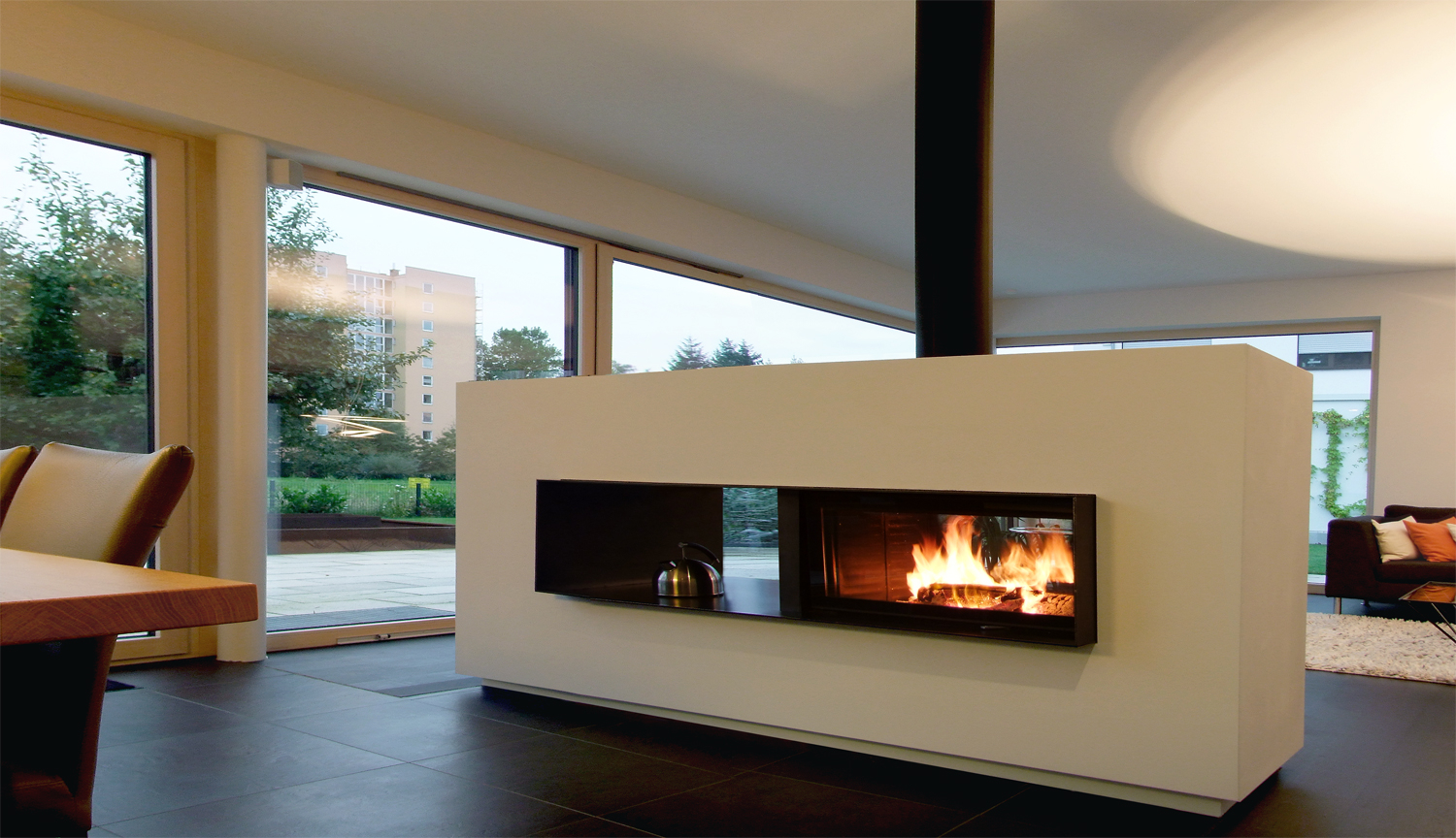 Modern Masonry Fireplace Designs